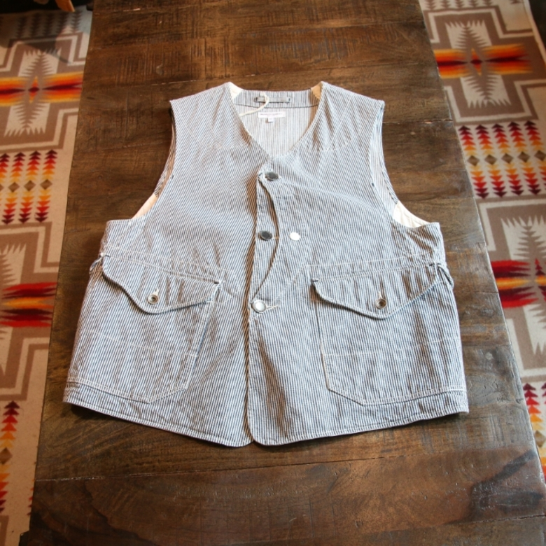 engineered garments hickory vest