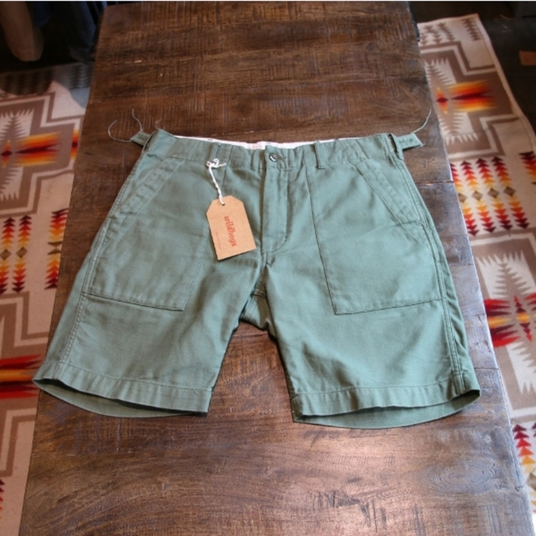 engineered garments farigue shorts