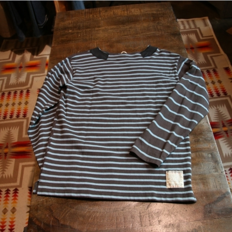 nigel cabourn boat neck border tee