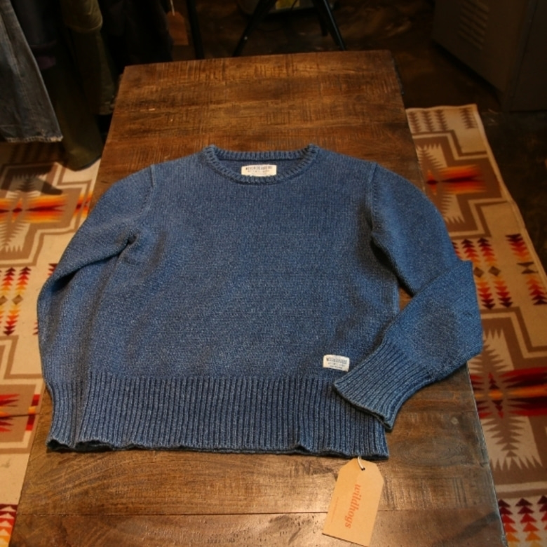 neighborhood indigo fisherman knit