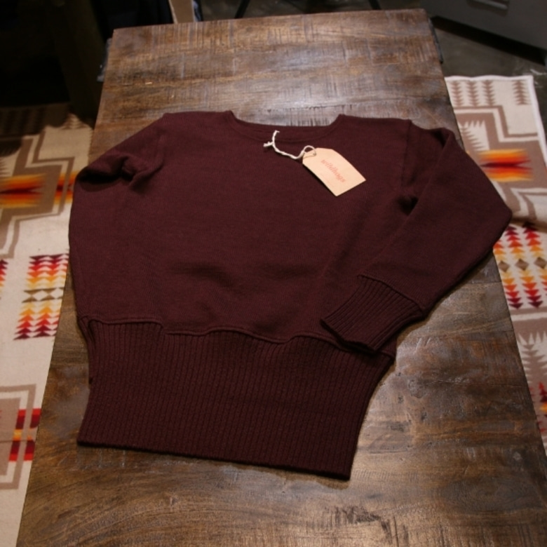 butcher products burgundy knit