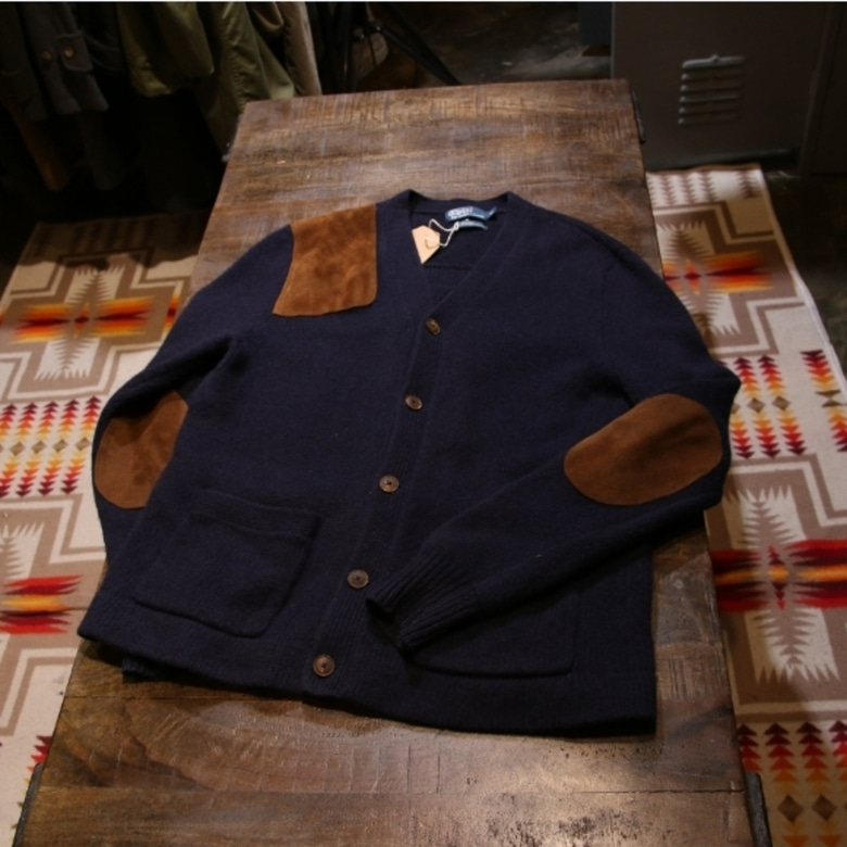 polo hunting patch cardigan