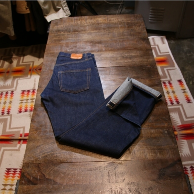 general supply white oak selvage denim pants
