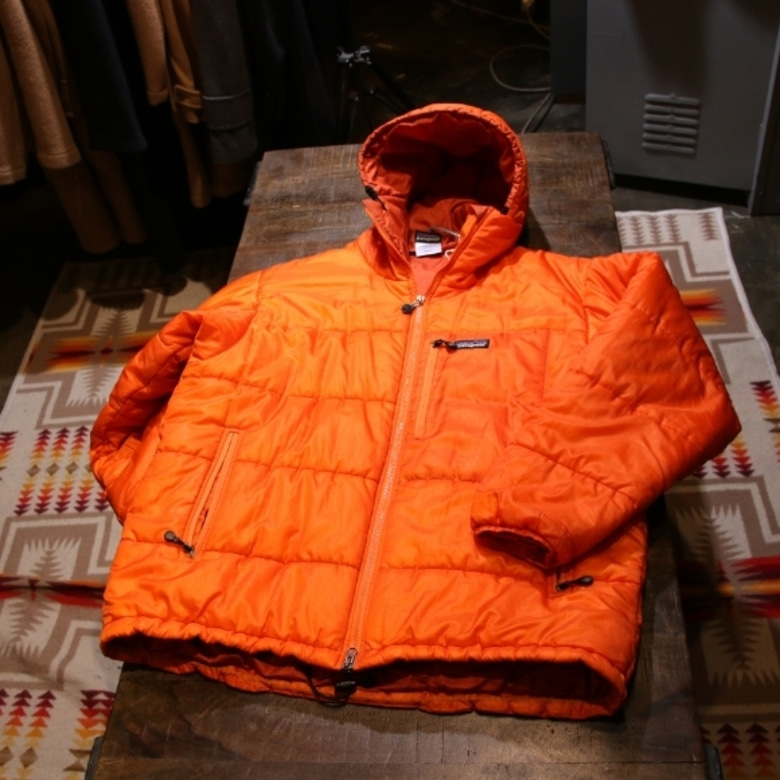 patagonia orange das parka (L)