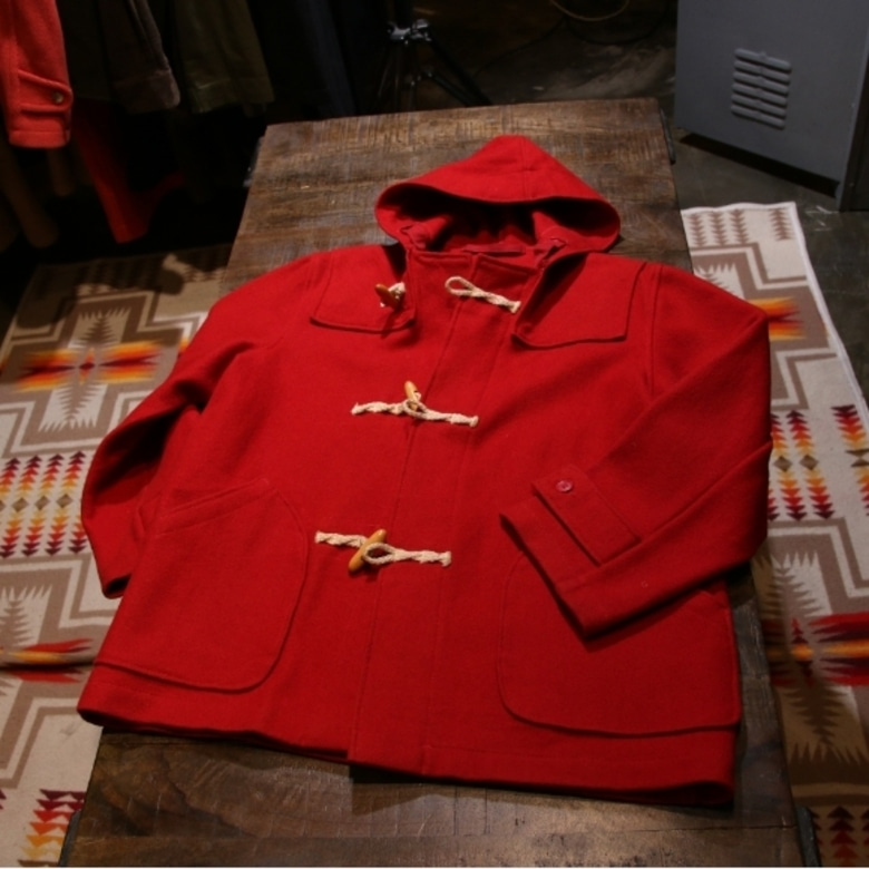schott red duffle coat