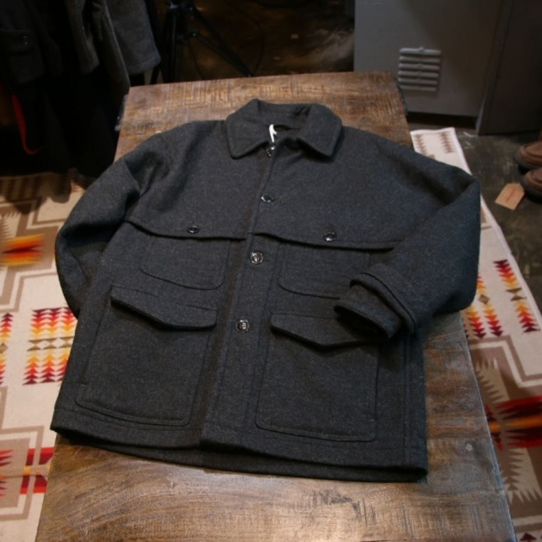 comoli wool double mackinaw coat