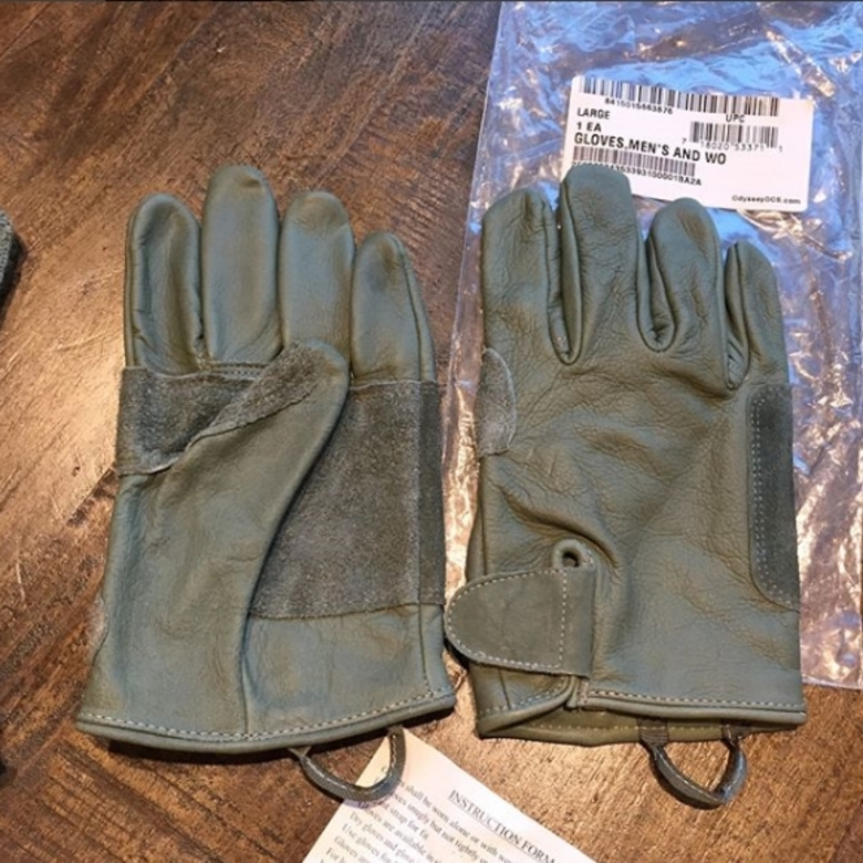 us army cow hide utility glove