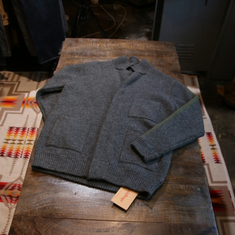beams 2 way zip up cardigan