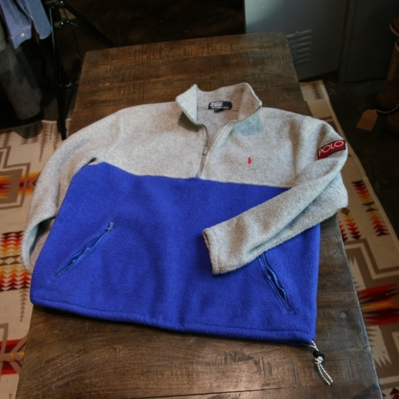 90s polo high tech fleece pullover
