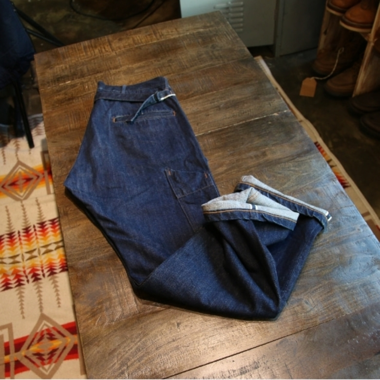 MHL x CANTON selvage denim pants