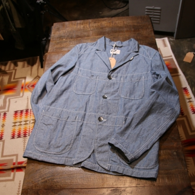 engineered garments chambray bedford jacket