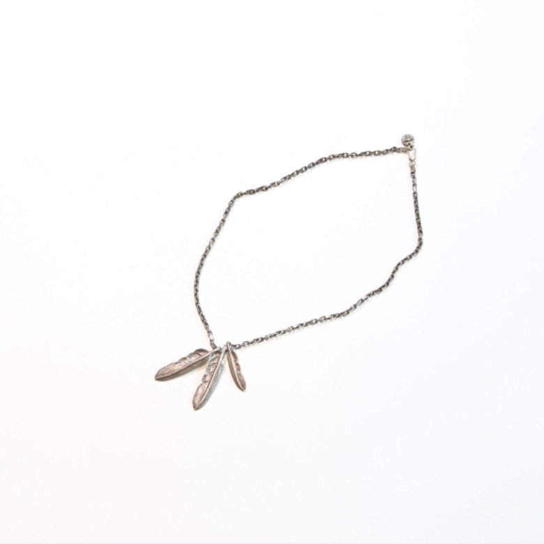Tady&King silver feather necklace