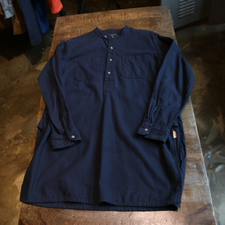 engineered garments BANDED COLLAR LONG SHIRT