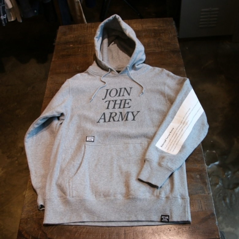 FPAR grey join the army hoody