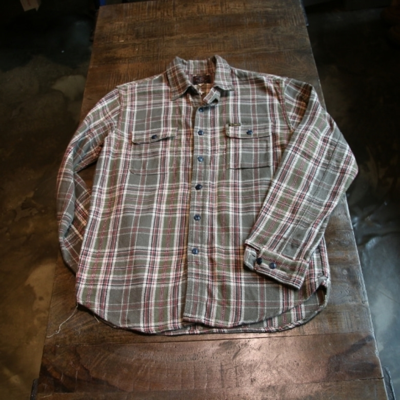 toys mccoy check flannel shirt