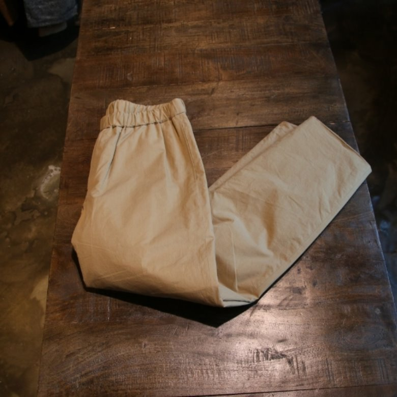 AURALEE WASHED TWILL QUILTING PANTS
