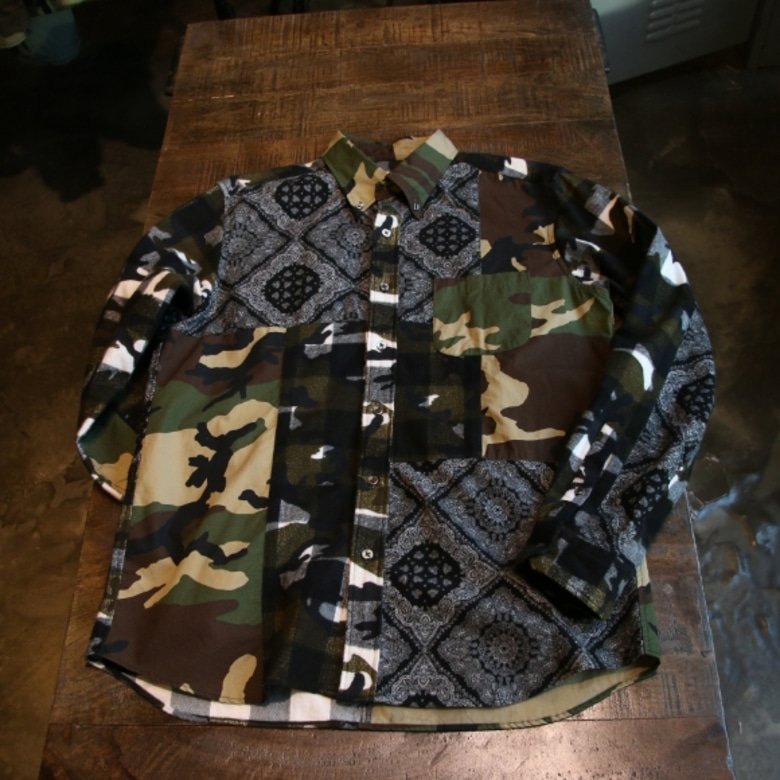 SOPHNET. Multi Mix Flannel Shirt