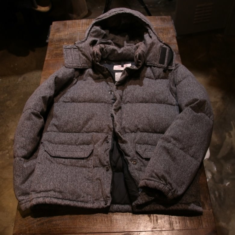 sugar cane grey down parka (L)