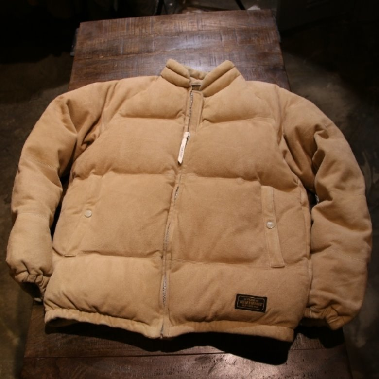 neighborhood suede down parka