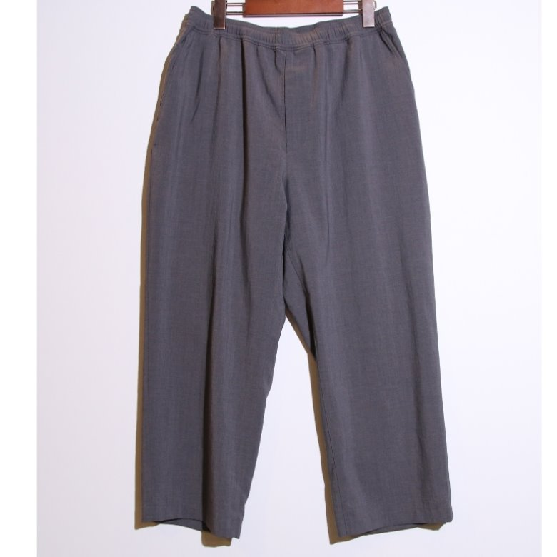 BEAMS grey wide easy pants