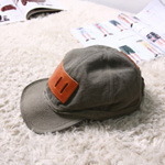 KAPITAL leather patch cap