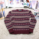 polo snow pattern knit