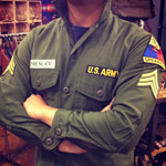 Elvis Presley military patch set