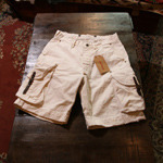 RRL white canvas shorts