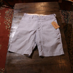engineered garments stripe shorts